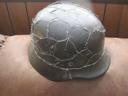 Chicken wire helmet I need help with