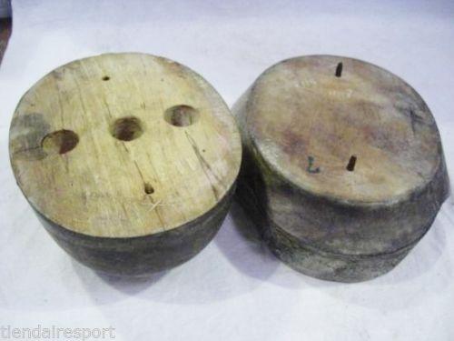 Wooden helmet mold on Ebay