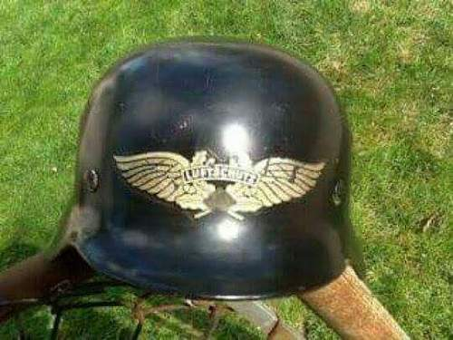 Did the luftschutz use m35 combat helmets?