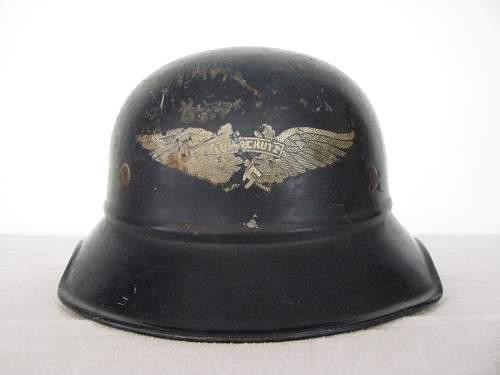 One piece beaded gladiator luftschutz factory police helmet