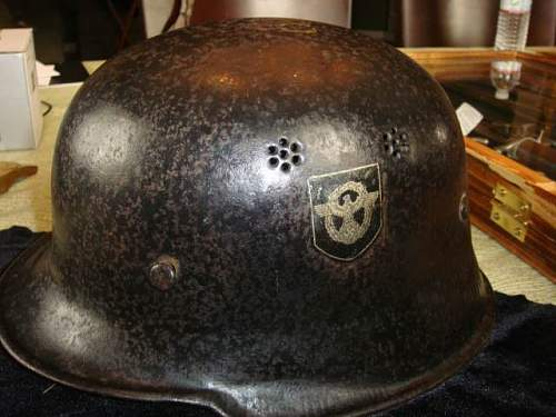 M40 Helmet w/Liner and Chin Strap and Civil Police Helmet: Authentic pieces?