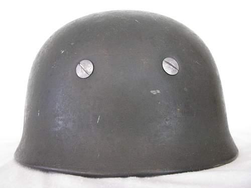 Late War M38 No Decal FJ Helmet - ckl 71 - Lot # 4255