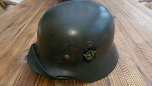 M35 DD Polizei helmet