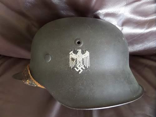 Heer single decal M42 Helmet