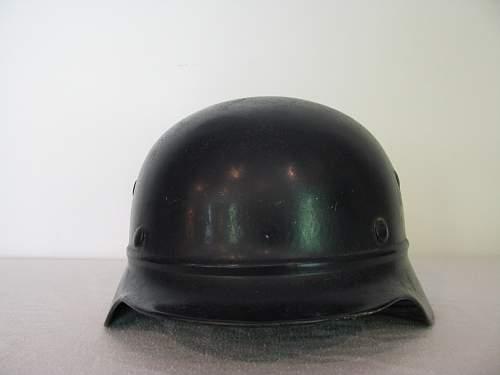 M35 Double Decal Luftschutz Polizei - NS62 - Intersting Lot # E.6