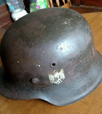 german helmet  found