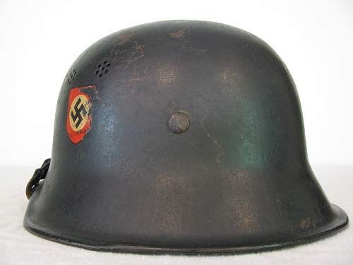 M34 Double Decal Police Helmet - Reverse Decal Configuration