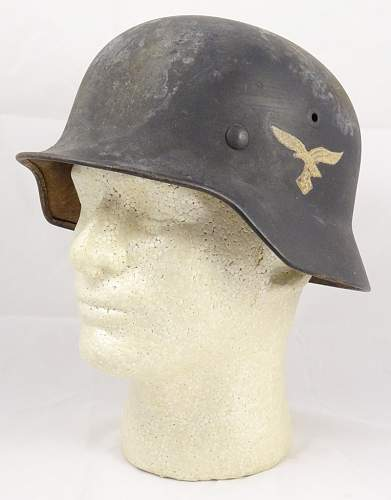 Question about potential period gray repaint of Luftwaffe camo helmet