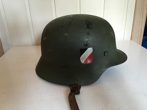 Possible to restore helmet marked ET64 3657? What to do with it?