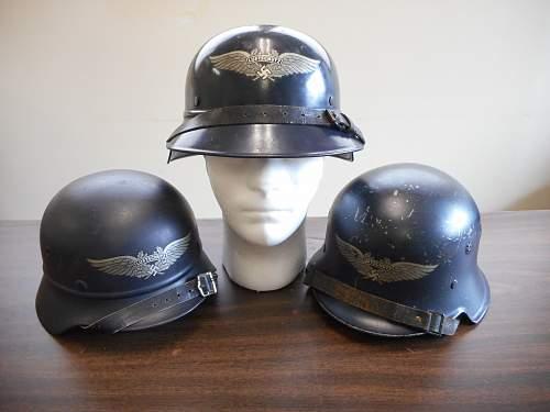 Click image for larger version.  Name:luftschutz helmets.jpg Views:20 Size:322.0 KB ID:979764