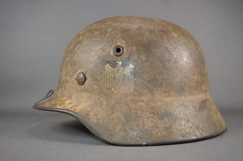 tan camo helmet