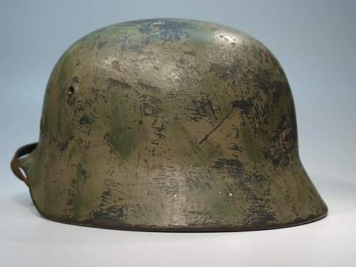 M35 Heer camo helmet
