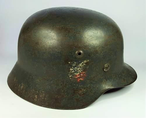 Luftwaffe M35 DD ET64 - 1st WW2 Stahlhelm to add to the collection