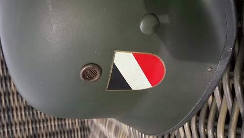 Original German parade helmets. Helps needed