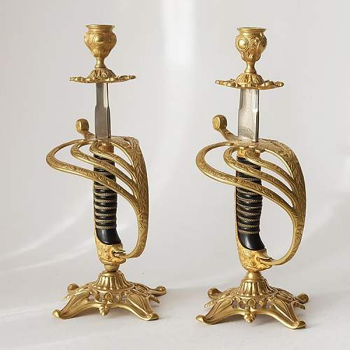 Sword candlesticks
