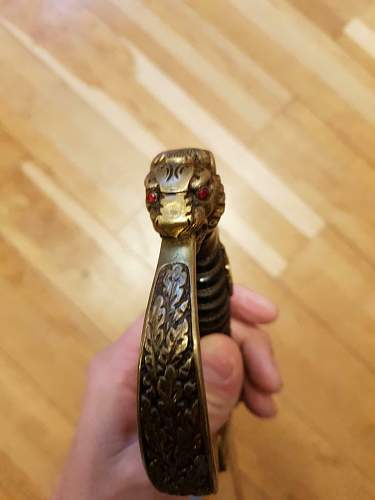 Lion head Officers sword