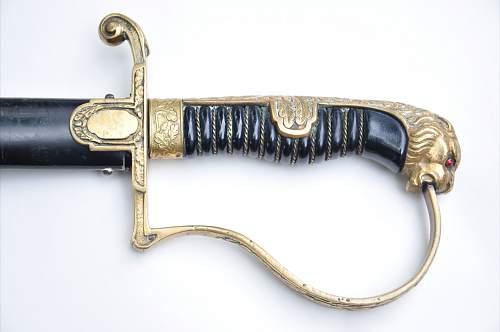 Lions head swords