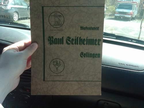 German Dagger & Sword Catalog