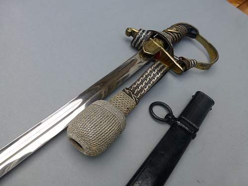 Beautiful Prinz Eugen Pattern Sword with Knot