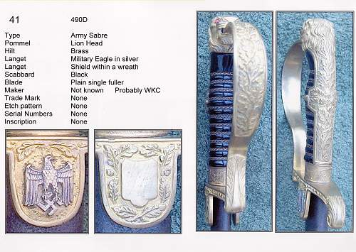 Swords, Sabres and Imperial during the Third Reich