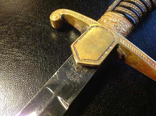 """Army """"Leopards head"""" sword by Alcoso"""