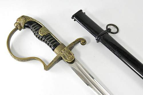 What is your opinion on this Unmarked Krebs Leopard Head Army Sword