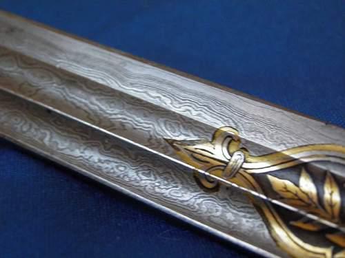 Imperial Presentation damascus sword