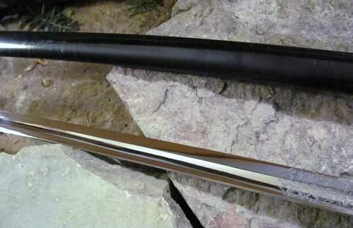 Army Artillery Sword - Regiment 31 - NCO / EM Double Etch Blade