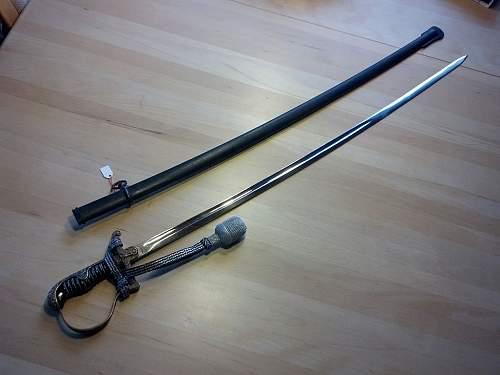 Heer officer dove head sword - Emil Voos, Solingen.