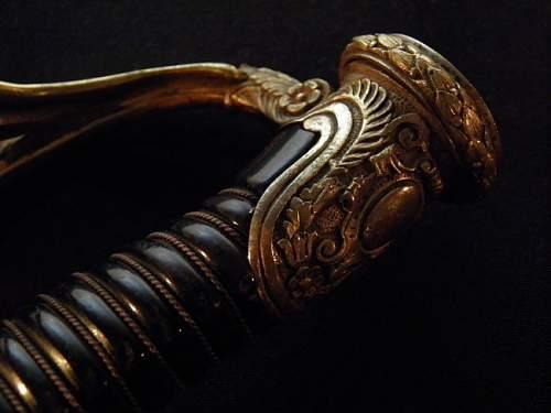 Damascus presentation sword