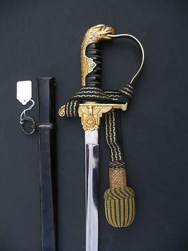 Prison officer sword
