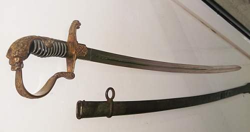 Imperial lionshead Artillery sword question