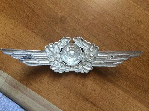 Luftwaffe Visor cap Insignia