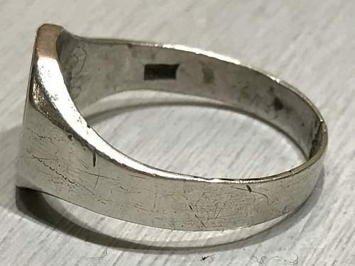 NSDAP patriotic ring Silver 800