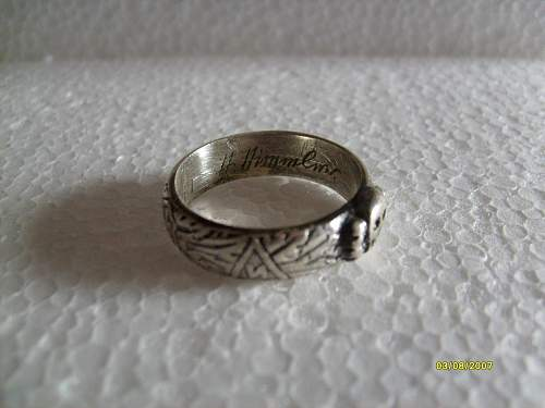 Ss honor ring for viewing..