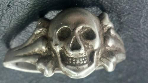 Skull ring in silver, 830 probe