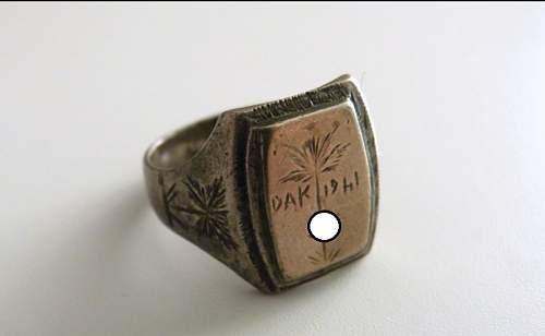 DAK Afrikakorps Ring 1941 Authenticity?