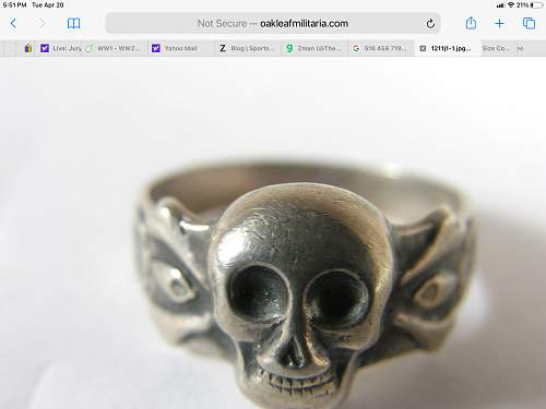 Canteen bought skull rings