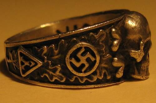 SS Stalingrad Officers Totenkopf Skull Ring