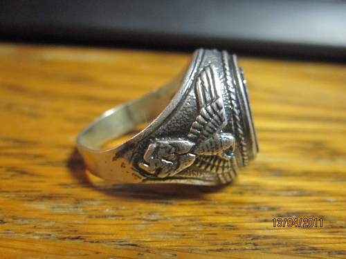 SS ring true or not bought this in poland wonder what is it