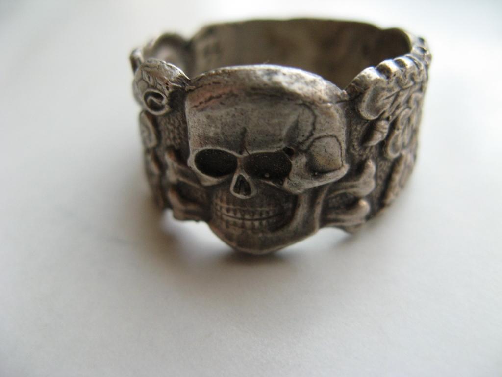 Nazi Ss Skull Ring