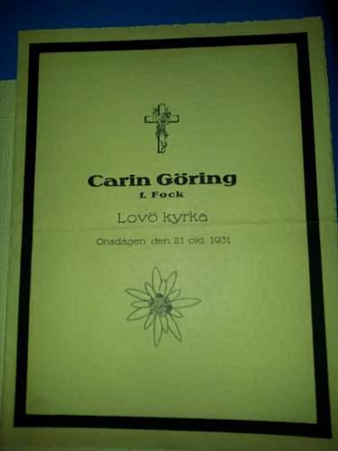 M Letter In Ring Carin Göring's ri...
