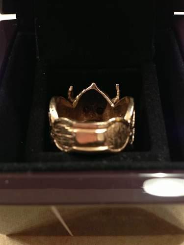 Viking Panzer Division WWII German Ruby Ring (Real or fake) ?