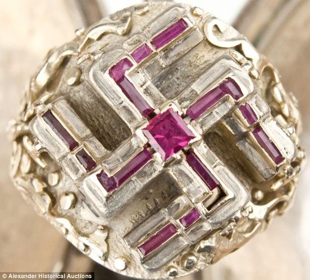 Adolf Hitler S Quot Lost Quot Ruby And Gold Swastika Ring