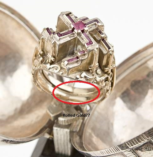 """Adolf hitler's """"lost"""" ruby and gold swastika ring"""