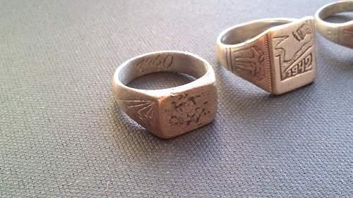 Three German rings (2x Krim + 1 unknown)