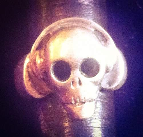 Skull Ring with Radio Headset