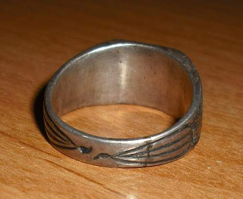 Nazi 1944 sliver RING  SS ring??