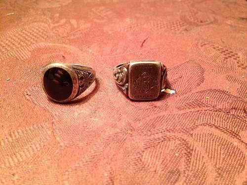 2 ww2(?) rings!
