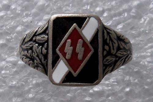 Ring with SS Runes on red background: Real or fake?
